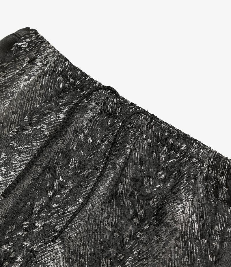 Needles S.L. W.U. Boot-Cut Pant - Leopard Jq. - Black