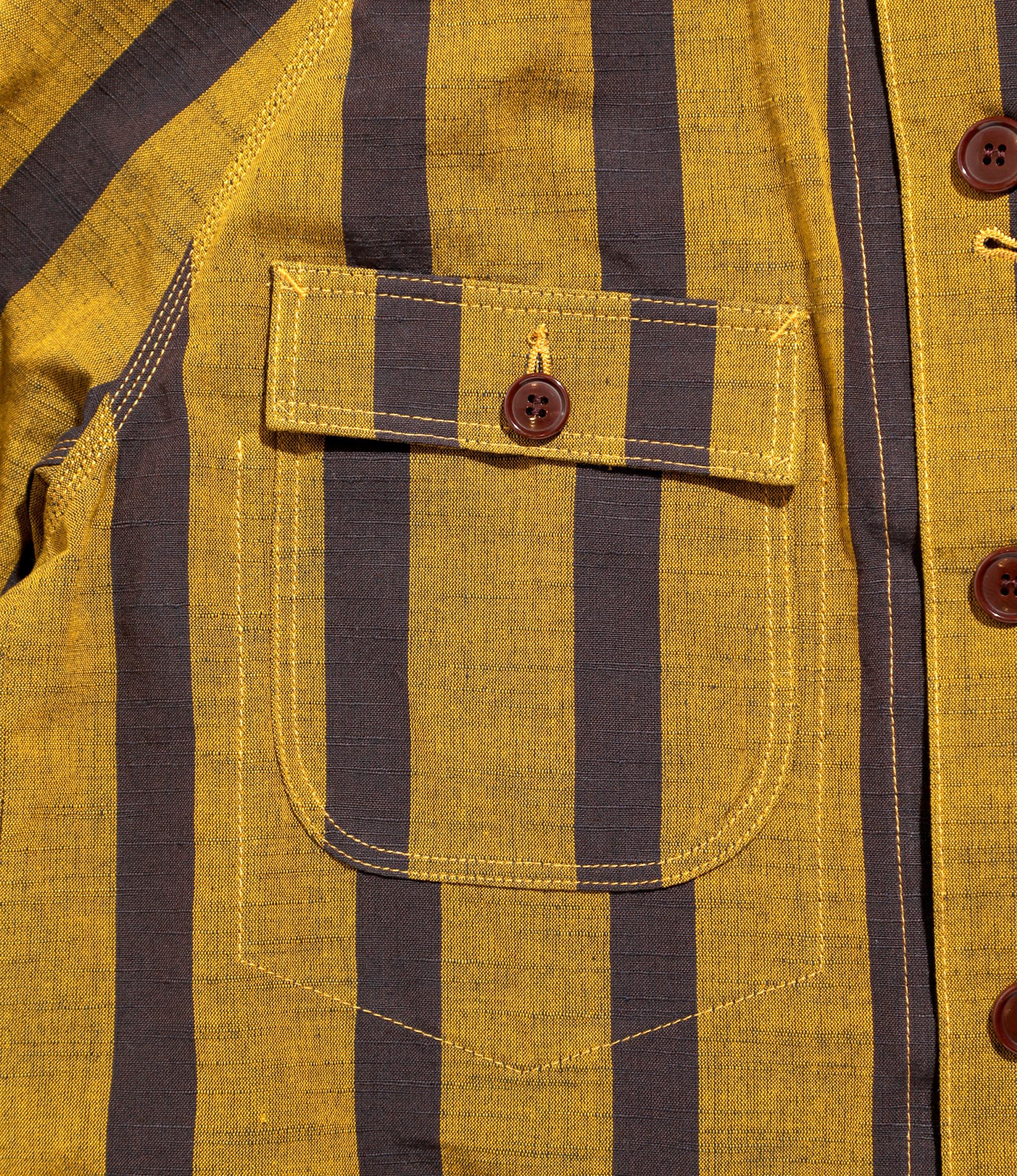 Needles Chore Coat - Aizu-Tsumugi - Mustard/Maroon