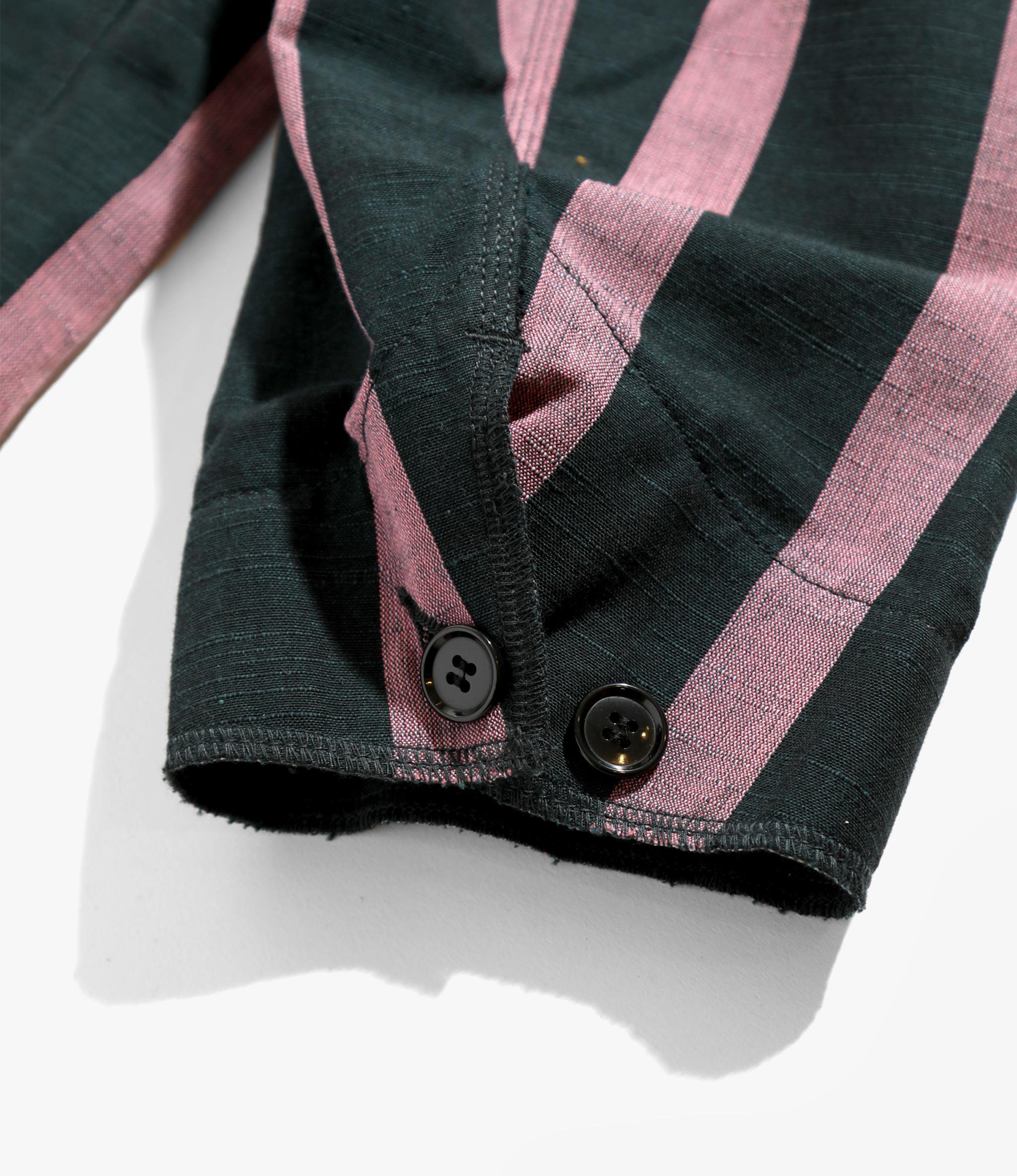 Needles Chore Coat - Aizu-Tsumugi - Dk.Green/Pink