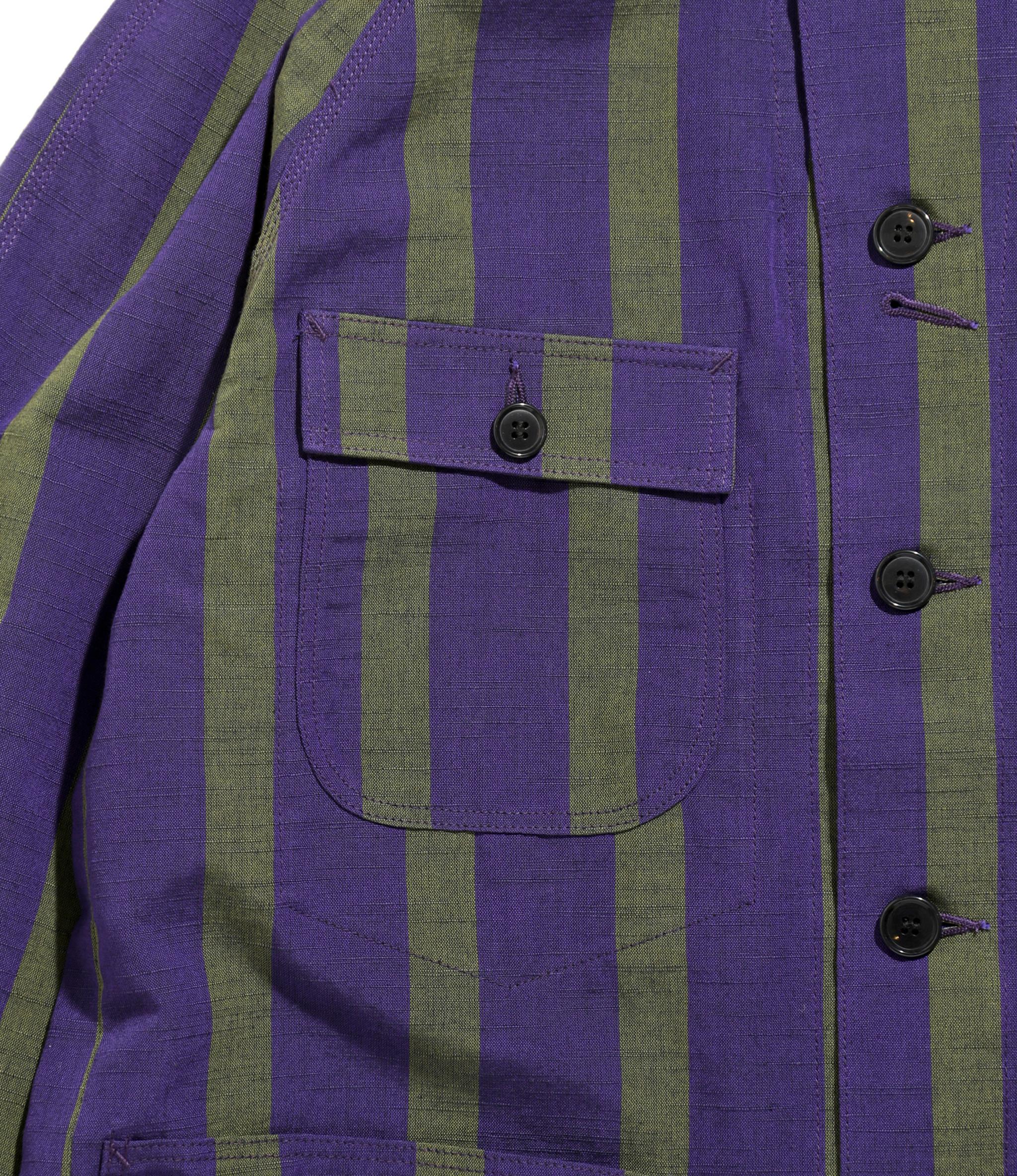 Needles Chore Coat - Aizu-Tsumugi - Purple/Green