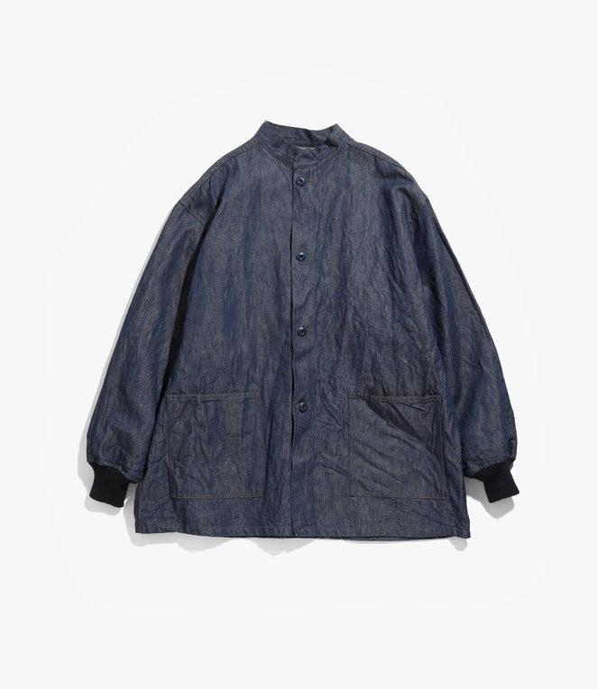 Needles S.C. Army Shirt - 11oz C/L Denim - Indigo