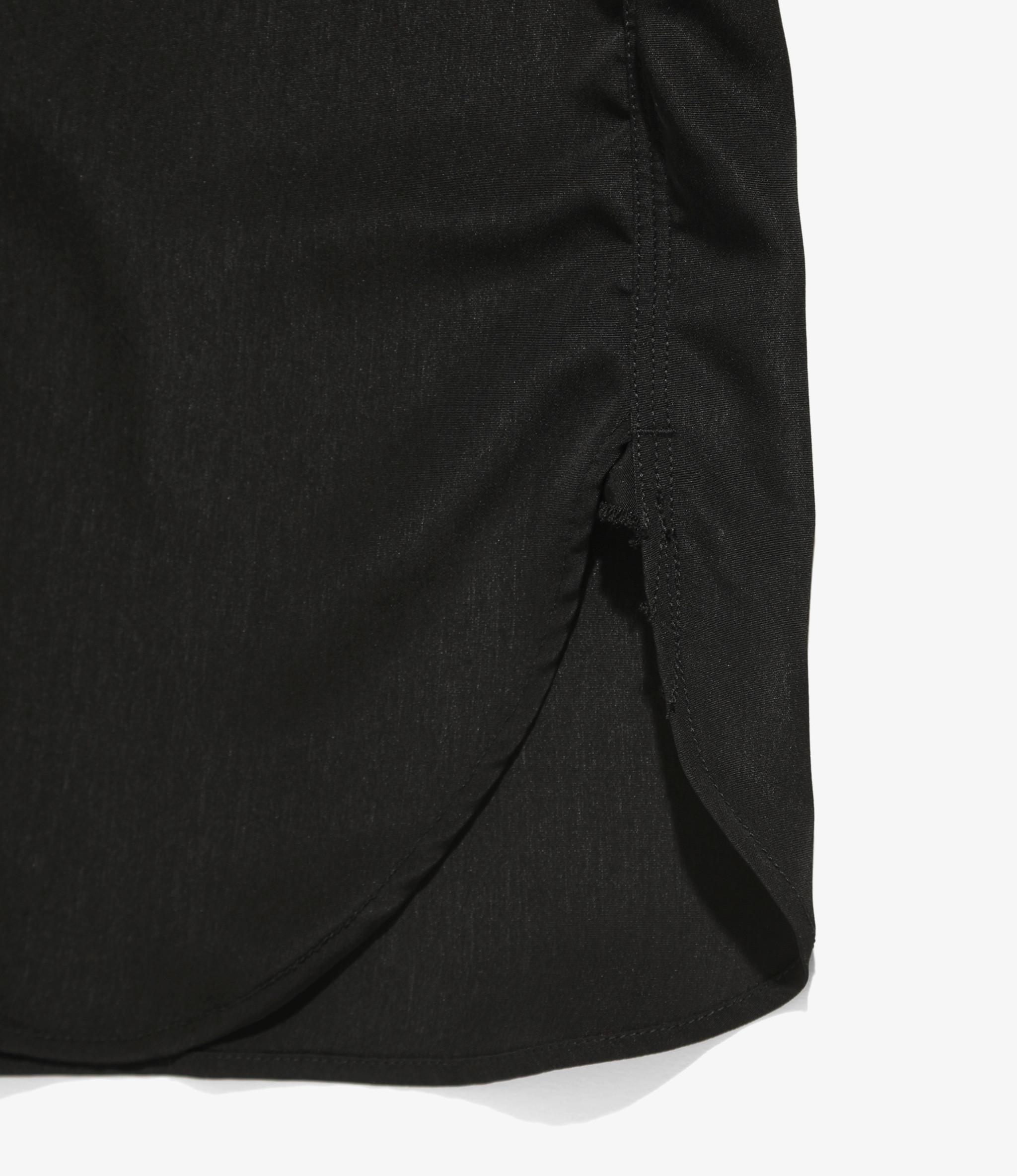 Needles Short Sleeve Work Shirt - Poly Cloth - Black