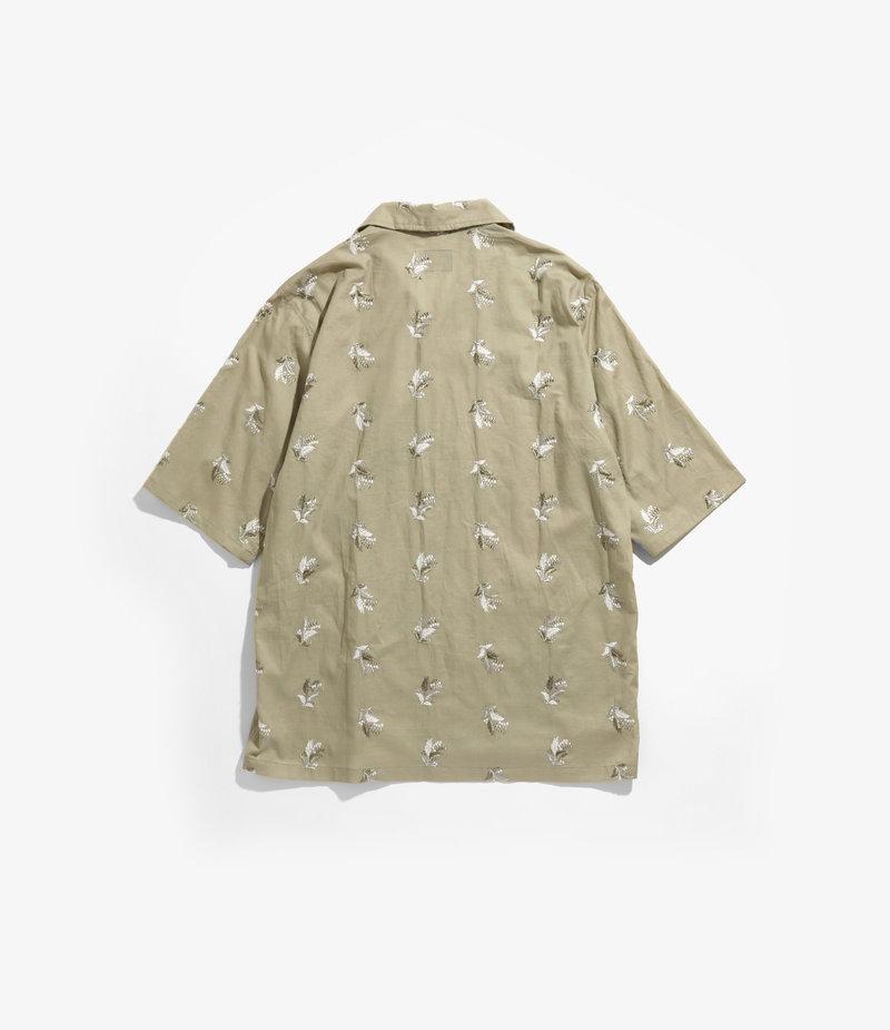 Needles Cabana Shirt - Plant Emb. - Green