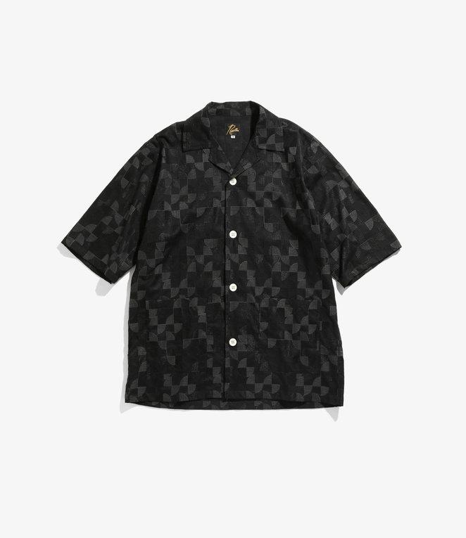 Needles Cabana Shirt - Circle Emb. - Black