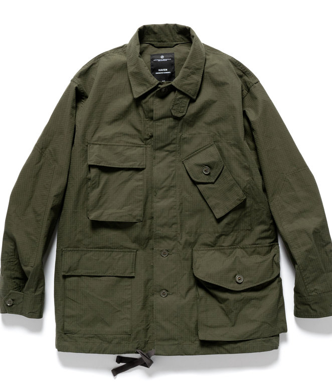 Engineered Garments BDU Jacket for HAVEN - Olive Ventile Ripstop