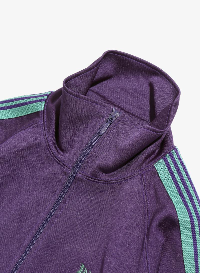 Needles Track Jacket - Poly Smooth - Eggplant