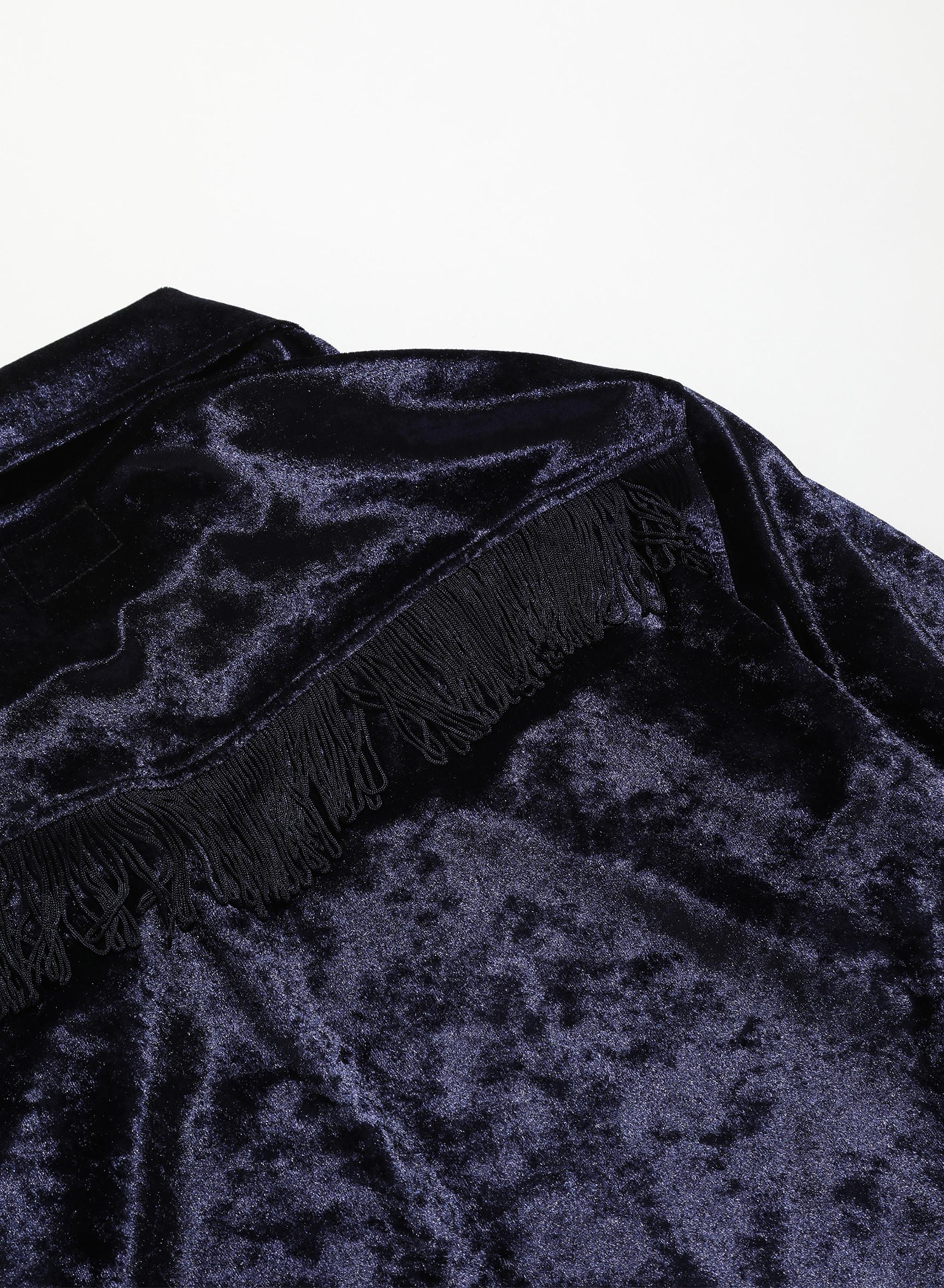 Needles Fringe Track Jacket - Crush Velour - Navy