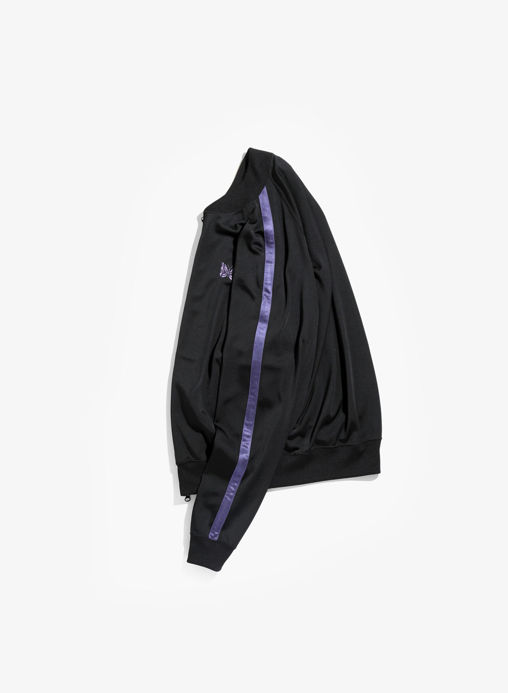 Needles S.L. Rib Collar Jacket - Bright Jersey - Black