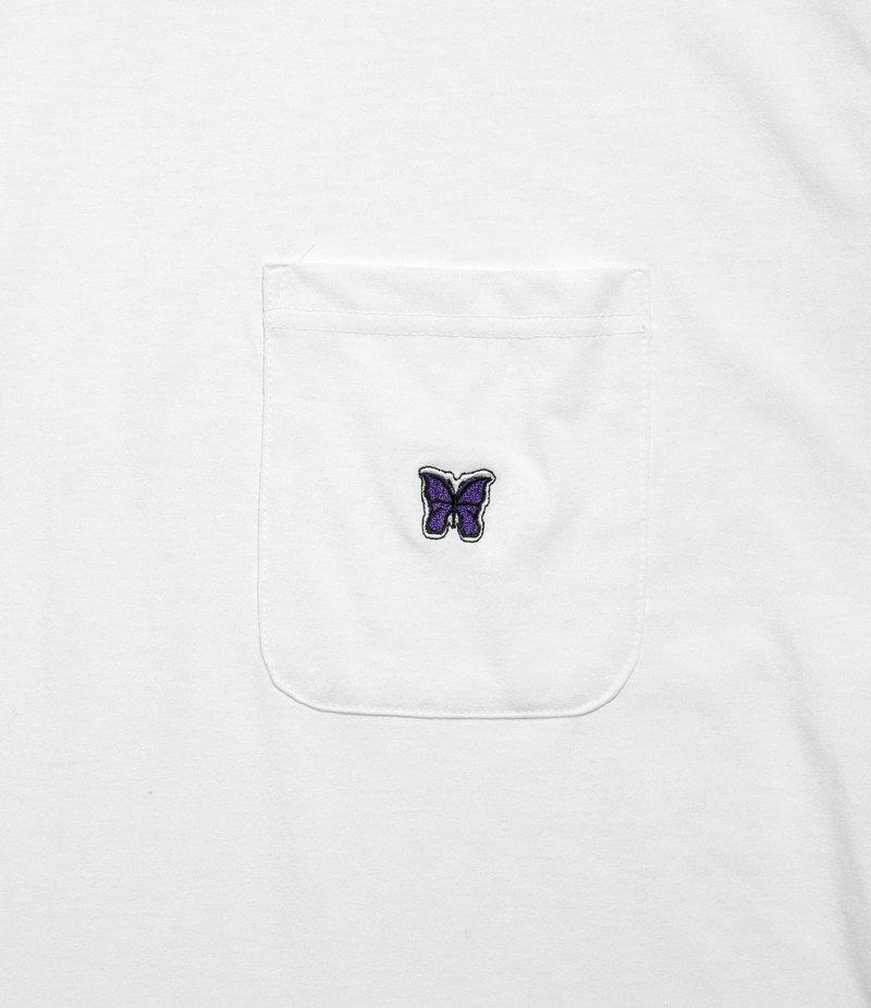 Needles Short Sleeve Crew Neck Tee - Poly Jersey - White