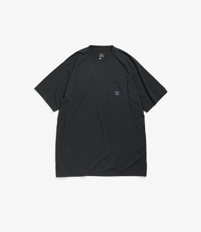Needles Short Sleeve Crew Neck Tee - Poly Jersey - Black