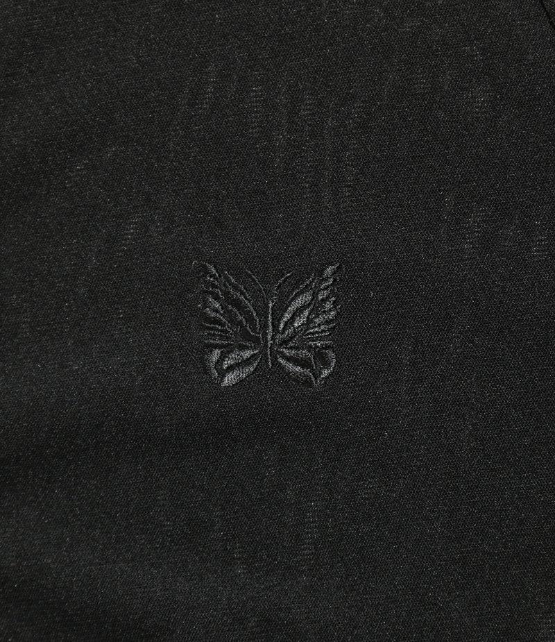 Needles V Neck Cardigane - Poly Mesh - Black