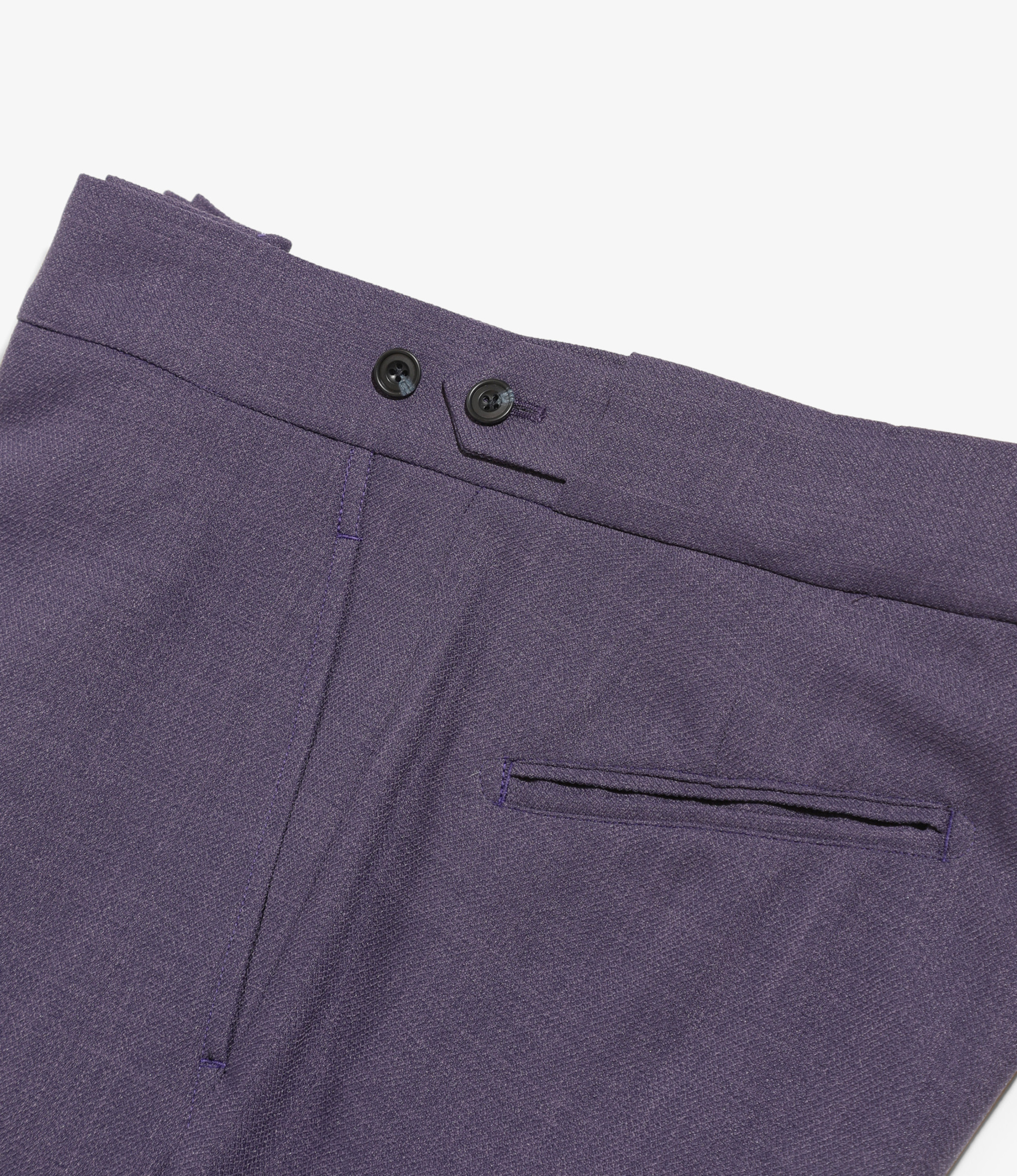 Needles Side Tab Trouser - Poly Dobby Twill - Purple