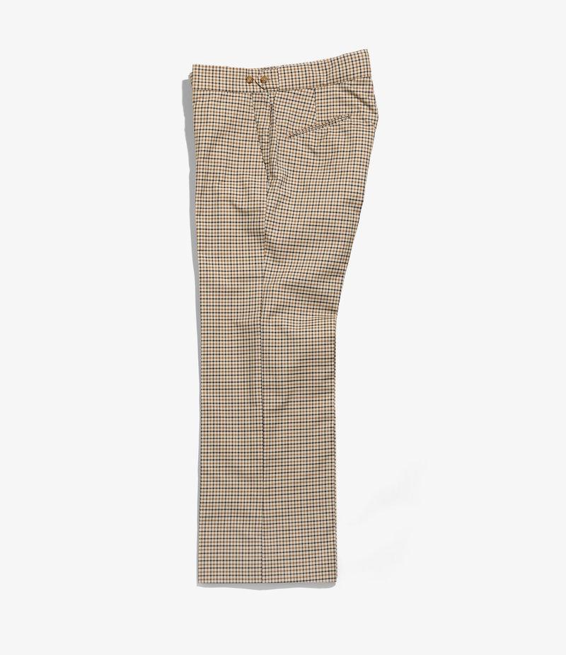 Needles Side Tab Trouser - Pe/C Gabardine Plaid - Beige