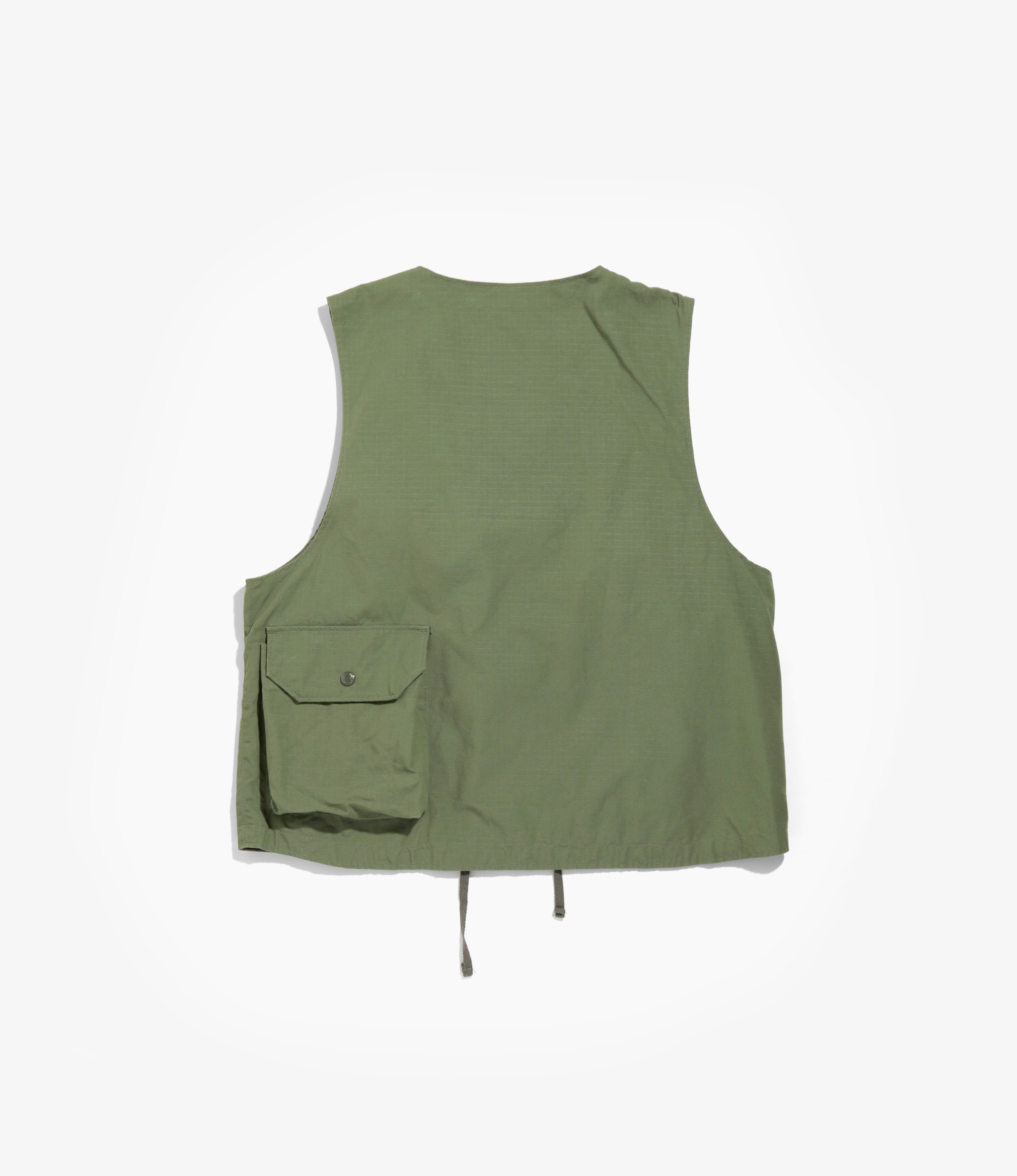 Engineered Garments Cover Vest - Olive Cotton Ripstop