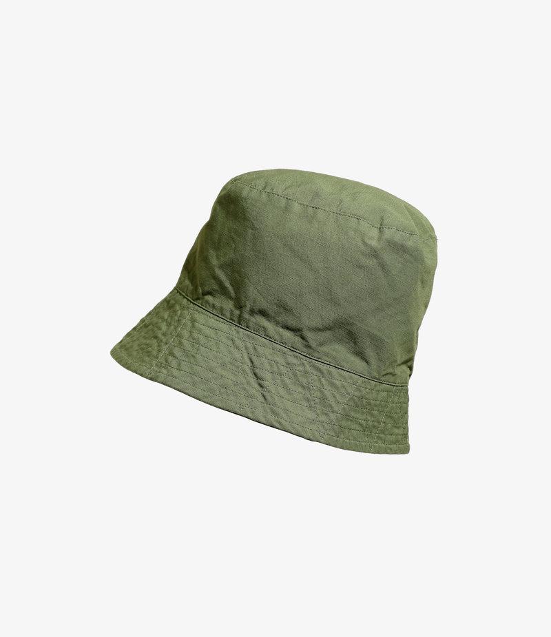 Engineered Garments Bucket Hat - Olive Cotton Ripstop