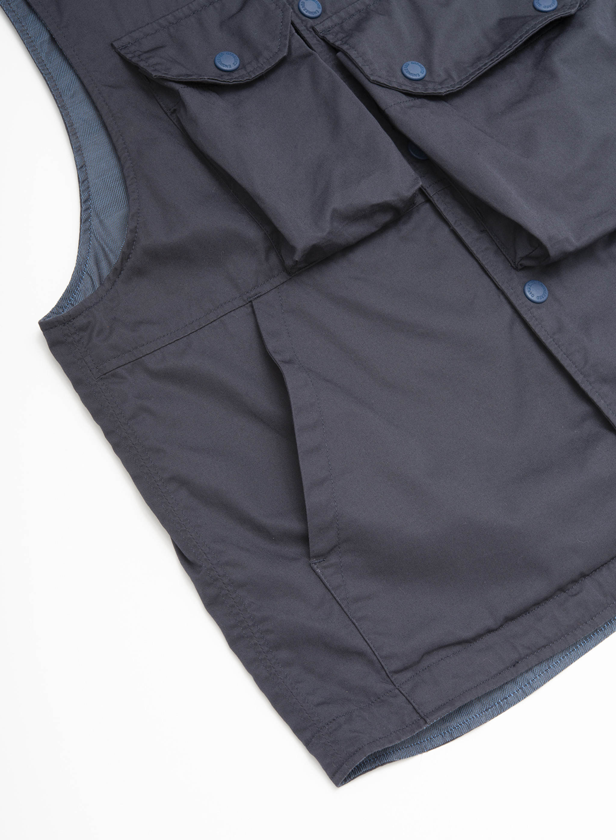 Engineered Garments Cover Vest - Dk.Navy High Count Twill