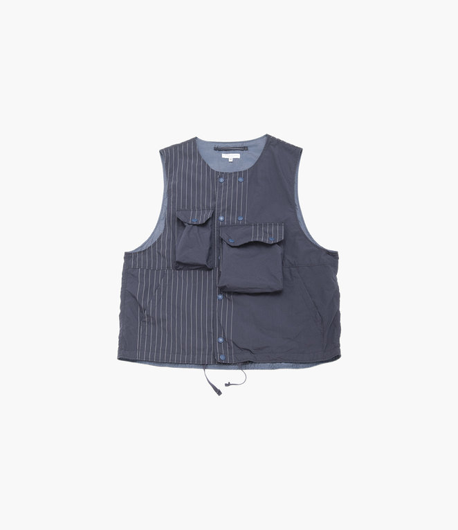 Engineered Garments Cover Vest - Dk.Navy Nyco Gangster Stripe