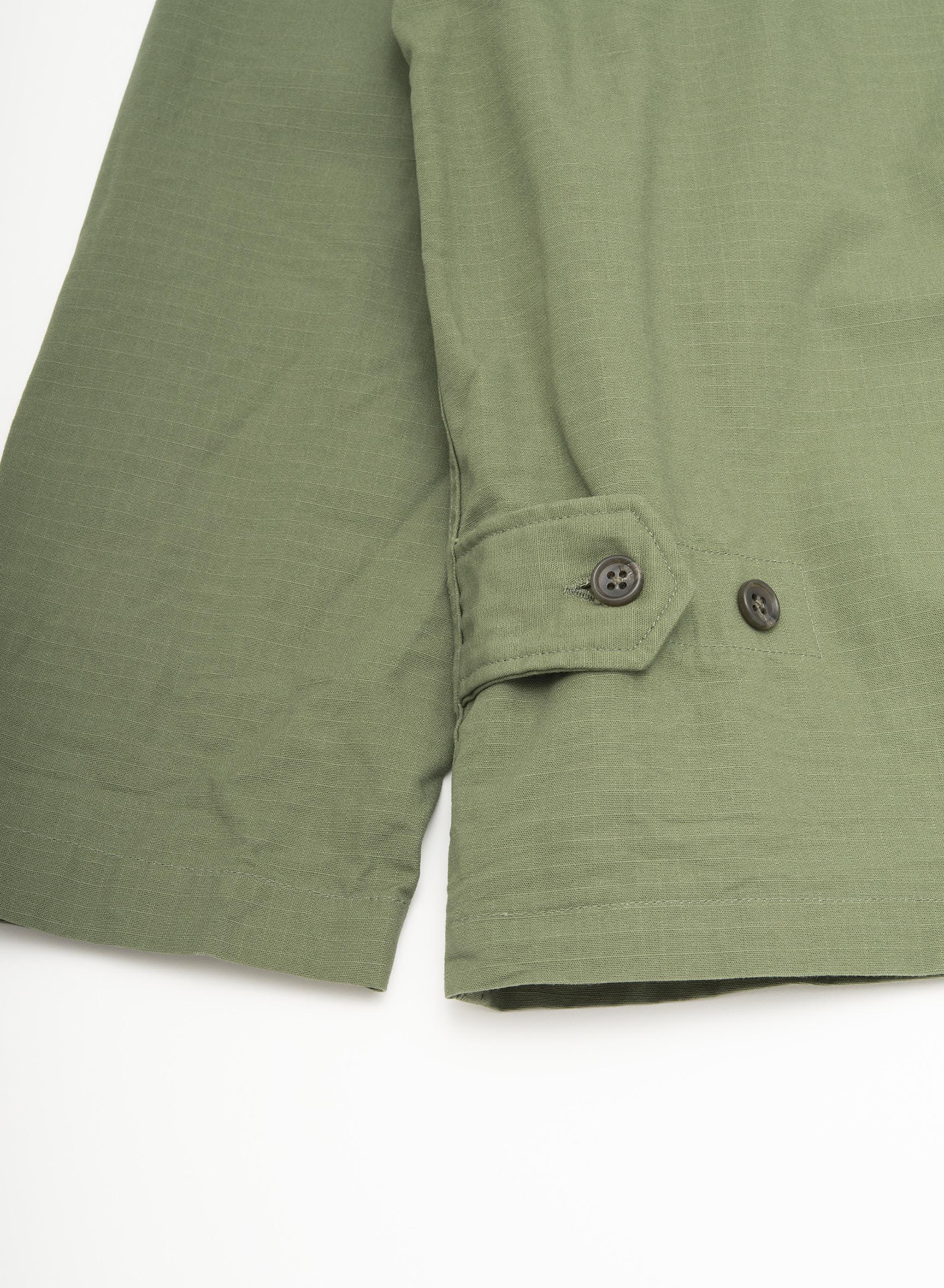 Engineered Garments Cardigan Jacket - Olive Cotton Ripstop
