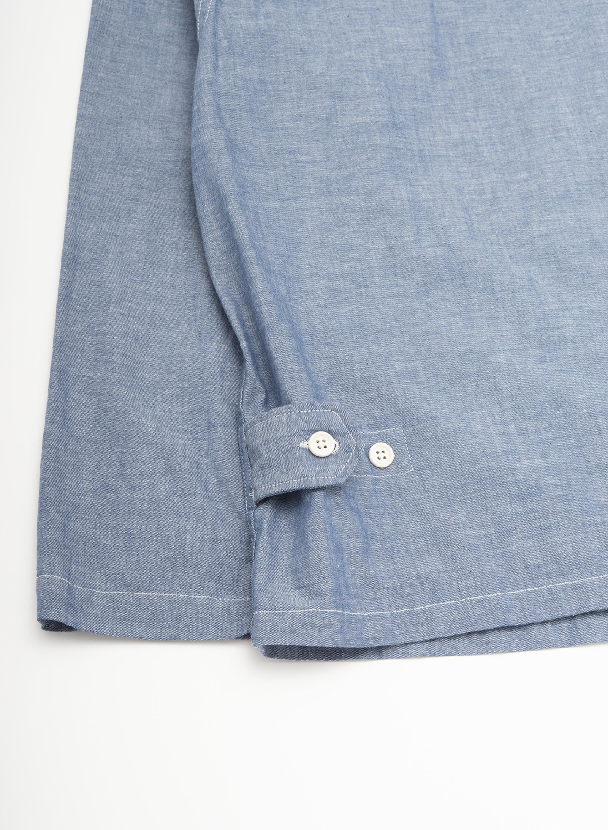 Engineered Garments Cardigan Jacket - Blue Cotton Chambray