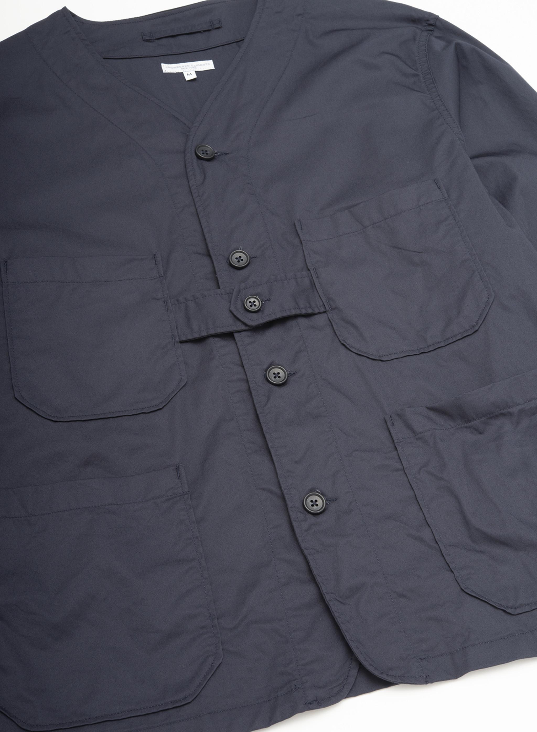 Engineered Garments Cardigan Jacket - Dk.Navy High Count Twill