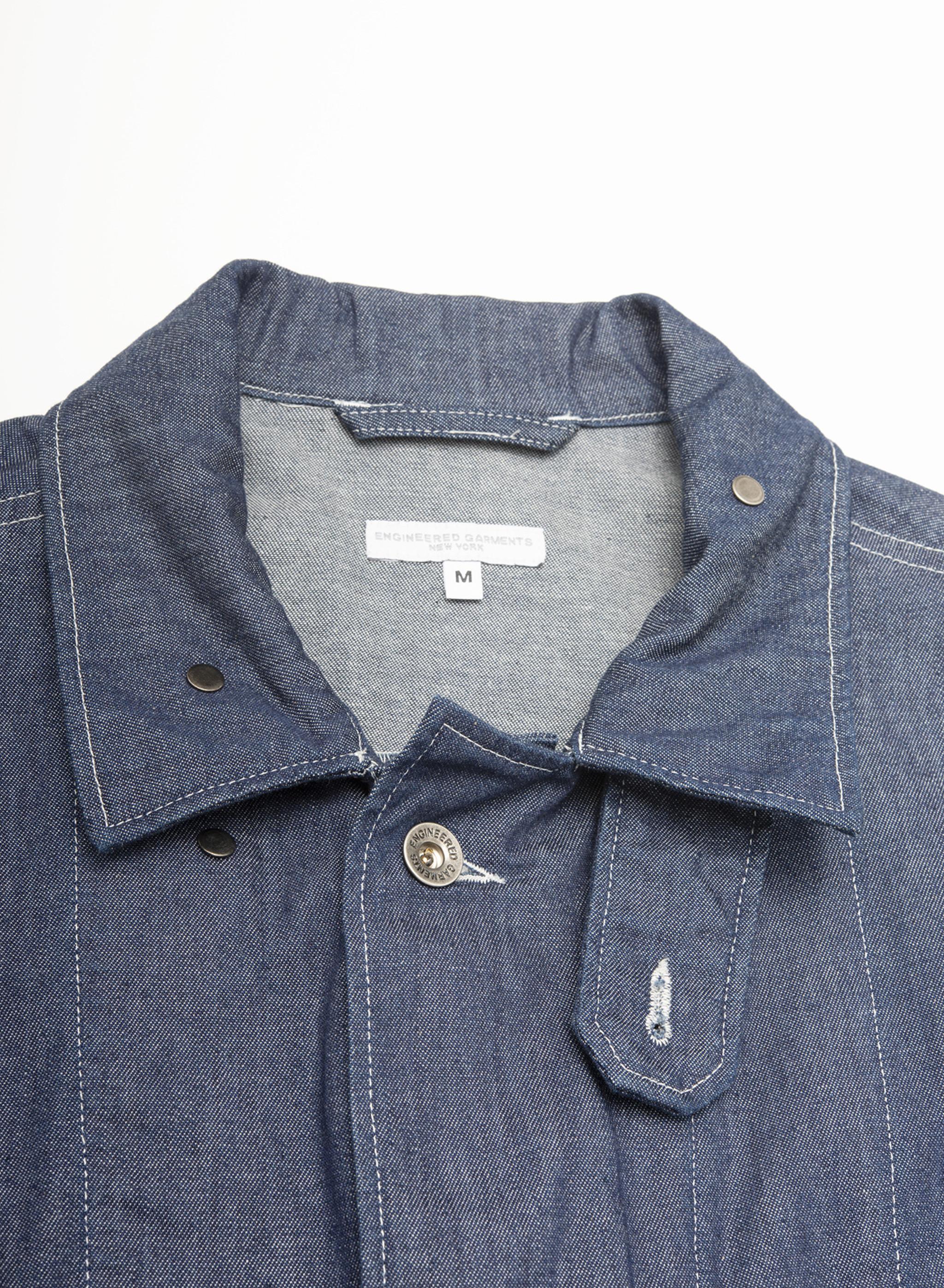 Engineered Garments M43/2 Shirt Jacket - Indigo 8oz Cone Denim