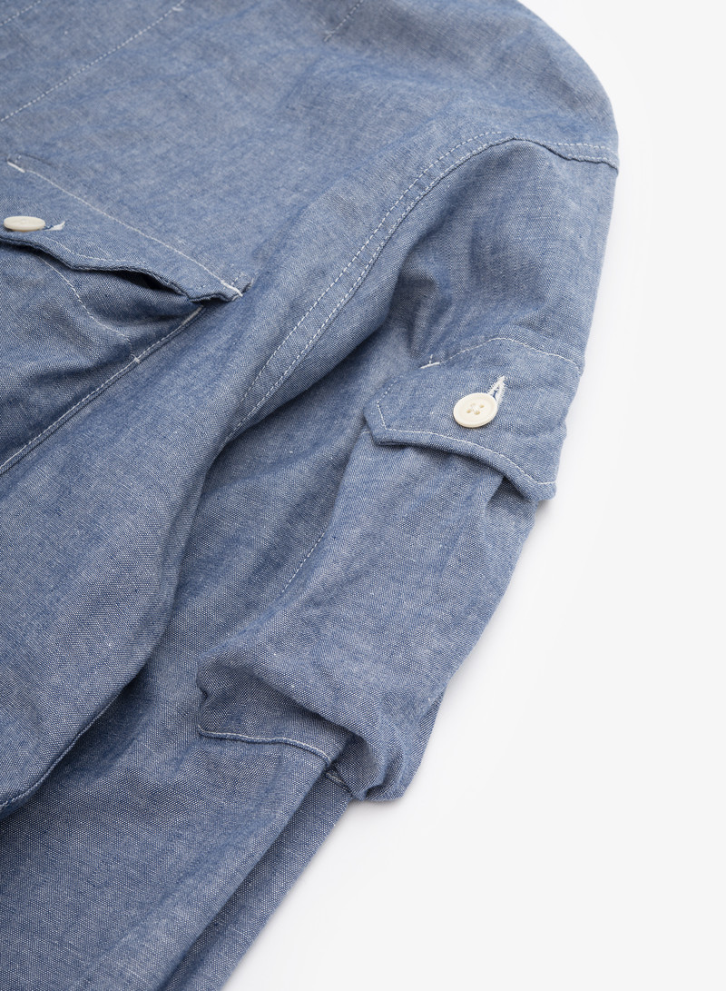 Engineered Garments Explorer Shirt Jacket - Blue Cotton Chambray