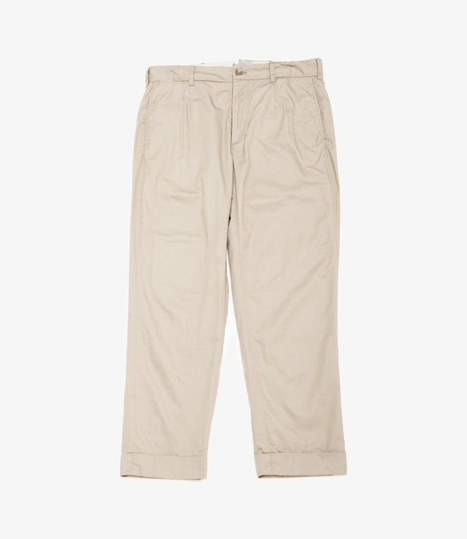 Engineered Garments Andover Pant - Khaki High Count Twill