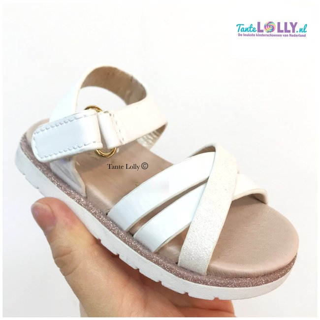 Kinderschoenen 19.Sandalen Fiona Wit 19 36 Tante Lolly Kinderschoenen