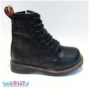 Boots CROCO-  Black