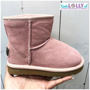 Winter Boots BAMBI- Light Pink  Suede