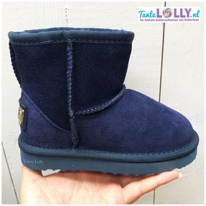 Winter Boots BAMBI- Blue Suede