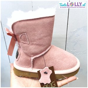 Winter Boots RAINBOW- Light Pink  Suede