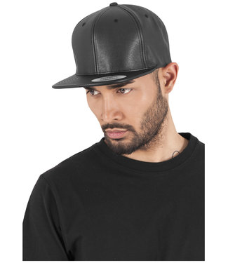 Full Leather Imitation Snapback