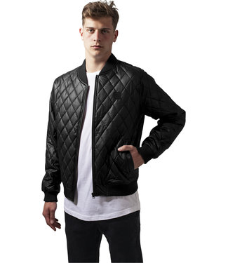 Diamond Quilt Leather Imitation Jacket