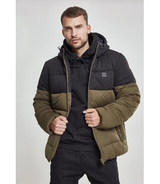 Hooded 2-Tone Puffer Jacket
