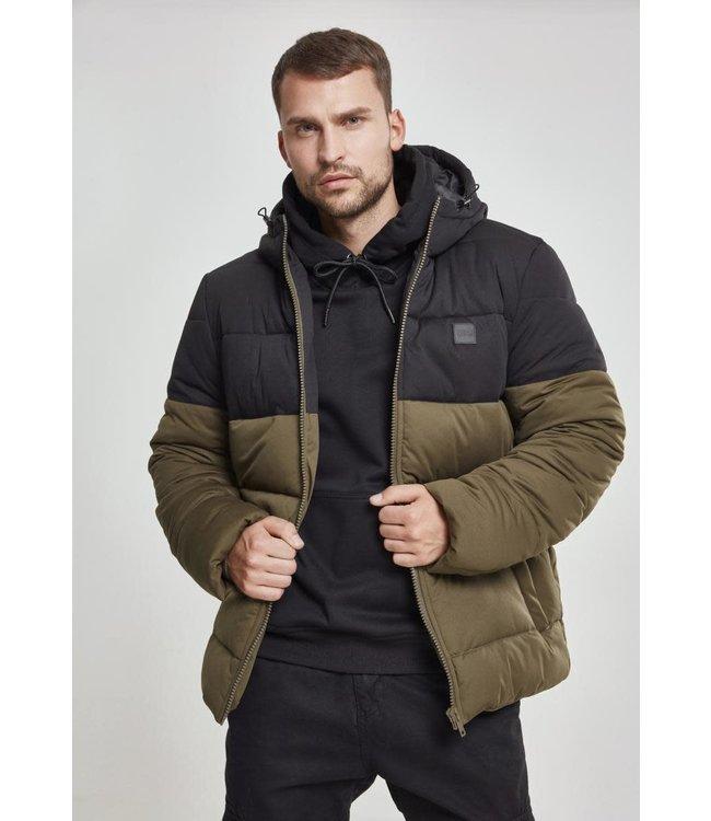 Hooded 2-Tone Puffer Jacket