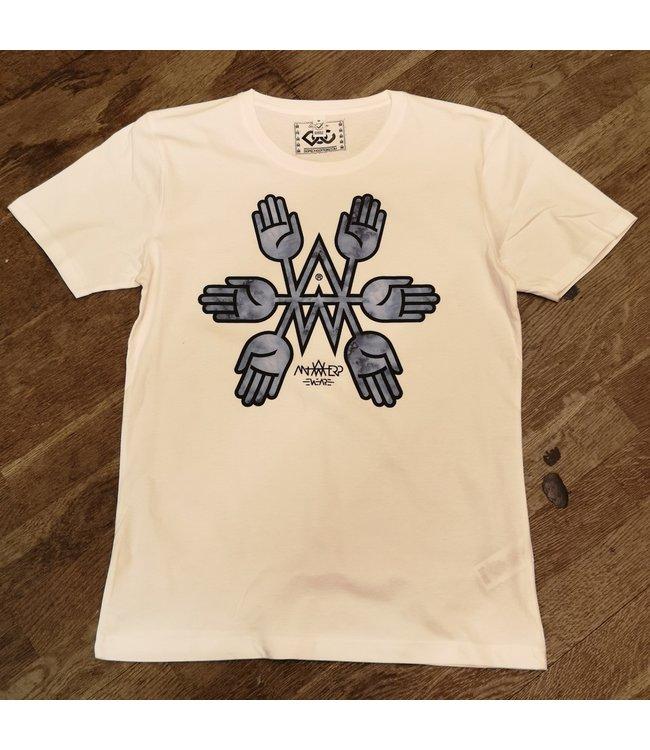 AW Tshirt Blue Hands AWT005