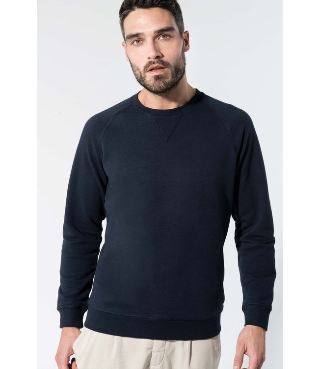 Sweater bio katoen  ronde hals raglan