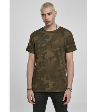 Build Your Brand Camo Tee Casual Oversized Cut BY079