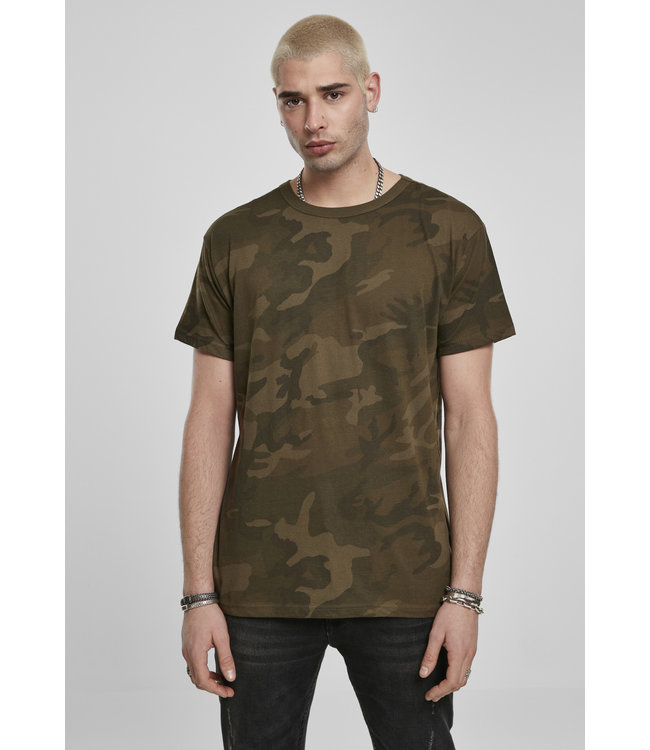 Camo Tee Casual Oversized Cut BY079