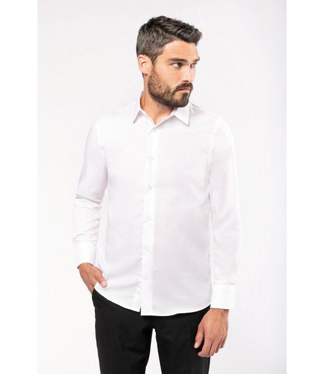 Getailleerd heren non-iron overhemd lange mouwen