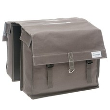 New Looxs dubbele fietstas Dock Double - Canvas brown grey