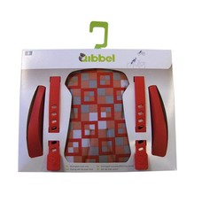 Qibbel luxe stylingset fietsstoeltje checked Red