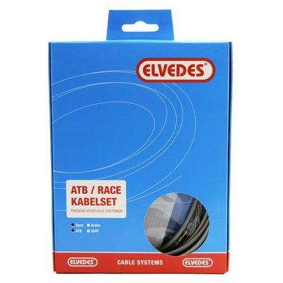 Elvedes Kabelset derailleur ATB/RACE  Zilver