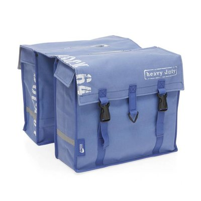 New Looxs dubbele fietstas Dock Messenger - Canvas blue