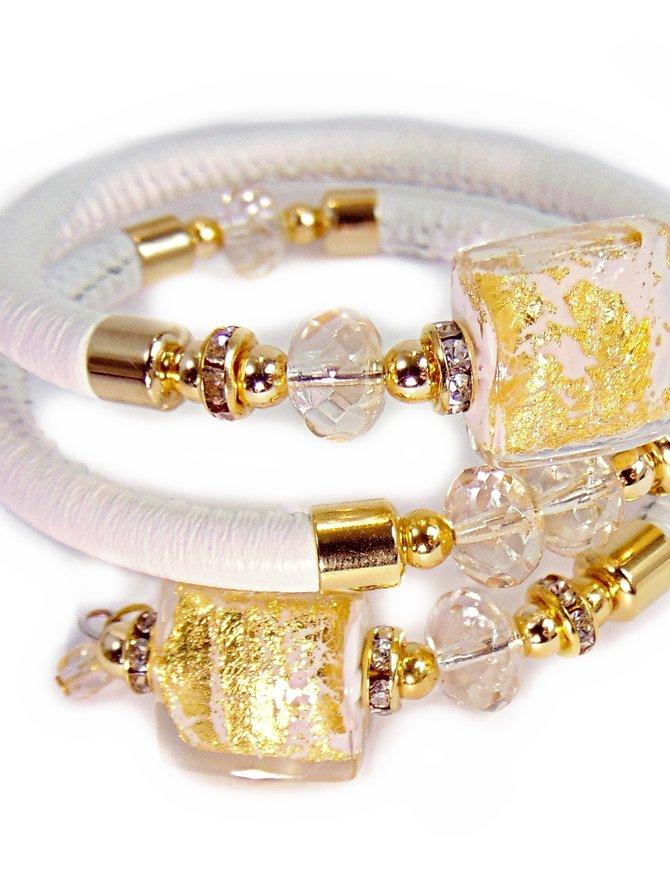 Venezia Classica Bracelet Tuscany Whitegold Murano Glass