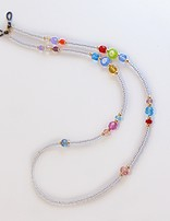 Venezia Classica Eyeglass Holder Necklace Murrine (silver, multicolor)