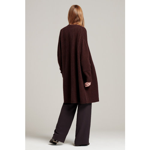 Zenggi ZENGGI LONG CARDIGAN warm brown
