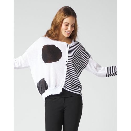 Manila Grace Manila Grace Sweater with dots