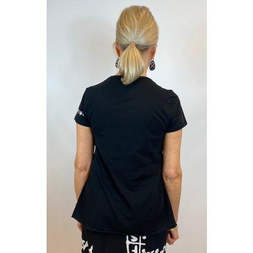 Rundholz Rundholz shirt 3370502 black print